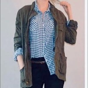 Cabi Olive Green/Brown Utility Jacket - Size Small